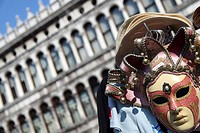Mask,Saint Mark´s Square, Venice, Veneto, Italy, Europe
