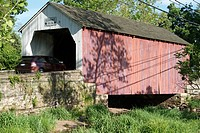 Covered bridge in Bucks County, Pennsylvania