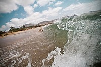 Frozen wave at Porto Santo Beach, Madeira