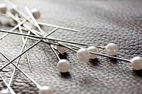 Some pearl head pins