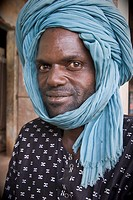 Man with turban looking to the camera, Senegal, Africa
