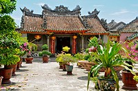 Vietnam, Quang Nam, Hoi An ancient town, declared World Heritage by UNESCO, Phu Kien Pagoda of the seventeenth century, meeting room of the Fujian Chi...