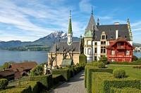 Schloss Meggen, a castle overlooking Lake Lucerne at the Meggenhorn near Lucerne in Switzerland