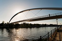 ´Hoger Brug´ Higher Bridge on the River Maas, Maastricht, Limburg, The Netherlands, Europe