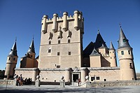 Panoramic View of the Alcazar de Segovia, Spain