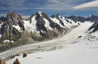 Glaciar y Agujas d´Argentiere, Alpes franceses