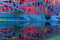 Bird´s Nest National Stadium by architects Herzog and De Meuron, 2008, Olympic Green, Beijing, China, Asia