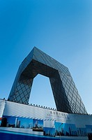 CCTV TV station HQ by OMA Rem Koolhaas architecture studio, 2009, Central Business District, Beijing, China, Asia