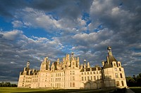 Sunset  Chambord castle in Loire Valley listed as World Heritage by UNESCO  France