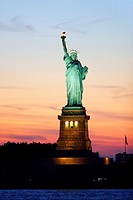 The Statue of Liberty in Liberty Island in New York Harbor