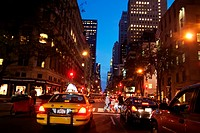 Traffic in Midtown, Manhattan NY City