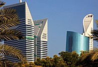 United Arab Emirates, Dubai, Sheikh Zayed Road, skyscrapers,