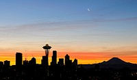 Seattle Skyline at Dawn 1