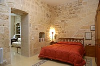 warm rustic bedroom