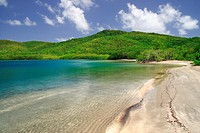The Treasure Bay in the Caravelle area in Martinica, a caribean island
