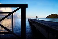 The pier of Grand Anse in Martinique, a caribean island