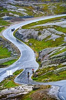 Road to Dalsnibba Viewpoint, More and Komsdal, Norway.