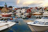 Naut dock at dusk Stavanger, Norway.