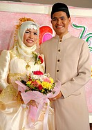 bride and groom , islamic wedding , muslim community , bangkok, thailand