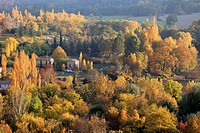 Autumnal landscape around Moustiers-Sainte-Marie, Alpes-de-Haute-Provence, Provence-Alpes-Côte d´Azur, France