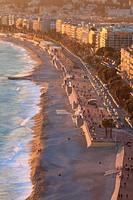 The Promenade des Anglais of Nice, Alpes-Maritimes, Provence-Alpes-Côte d´Azur, France