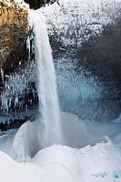 Helmcken Falls in winter, Wells gray Provincial Park British Columbia Canada