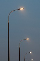 Public lighting, Vélizy-Villacoublay,Yvelines department, Ile-de-France, western suburbs of Paris, France.