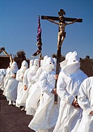 Holy Week procession, Bercianos de Aliste, Zamora province, Castilla-Leon, Spain