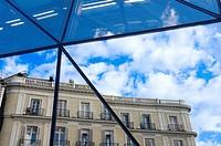 "View of a building through the subway station in ""Puerta del Sol"", Madrid, Comunidad de Madrid, Spain, Europe"