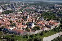 Aerial View of Old Medieval Tallinn in Estonia, Europe
