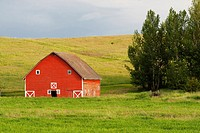 A barn in the Palouse farming area of eastern Washington State, USA