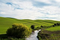 Latah Creek in the Palouse farming area of eastern Washington State, USA