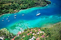 Marigot Bay, south of Castries on the west coast of the island of St  Lucia in the Caribbean  Location for film Dr  Dolittle