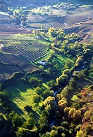 Spain, Andalusia, Ronda, landscape, aerial view,