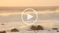 sea waves, breakers, rock, La Playa, La Gomera, Canary Islands, Spain