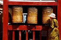 Gandantegchenling monastery, an important center of Buddhist teaching, Ulan Bator, Mongolia