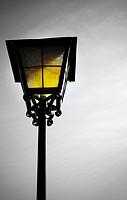 Old lantern in rural restaurant