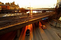 Railway and Highway, Stockholm, Sweden, Scandinavia, Europe