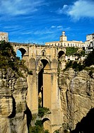 Roman Bridge or Puente de San Miguel  Ronda  Three bridges, Puente Romano ´Roman Bridge´, also known as the Puente San Miguel, Puente Viejo ´Old Bridg...
