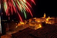 Fireworks over Paliano, Italy
