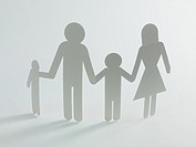 A family cutout shape isolated against a white background