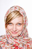 Blond Woman with Scarf