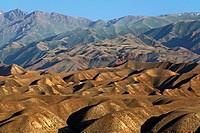 Mountains in the Sary Kamysh mountain range in central Kyrgyzstan, Kyrgyzstan