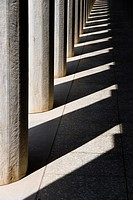 Stoa of Attalos, Attalus, column´s detail, one of the most impressive stoæ in the Athenian Agora, Athens, Greece