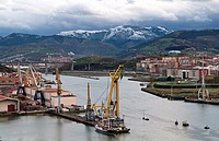 Celaya shipyards in the River Nervion in Erandio, Bizkaia