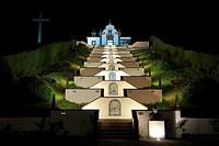 Our Lady of Peace chapel Nossa Senhora da Paz at night  Vila Franca do Campo  Sao Miguel island, Azores islands, Portugal