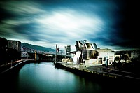 Guggenheim Bilbao Museum by Architect Frank Gehry, Nervion River, Bilbao, Province of Biscay, Basque Country, Spain