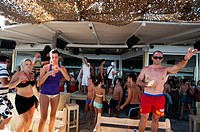 Tropicana Bar, Paradise Beach, Mykonos, Cyclades, Greece
