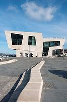 Liverpool pier head Mersey ferry terminal  UK