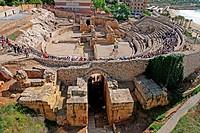 Roman Amphitheatre, festival´11 Tarraco Viva, Tarragona, Catalonia, Spain